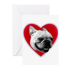 Love French Bulldog Greeting Cards (Pk of 10)