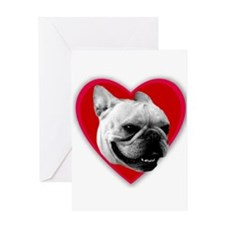 Love French Bulldog Greeting Card
