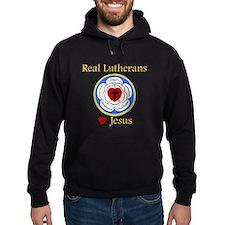 Real Lutherans Love Jesus Hoodie