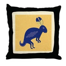 Whimsical Rabbit Throw Pillow