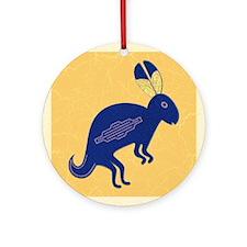 Whimsical Rabbit Ornament (Round)