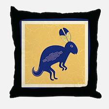 Whimsical Rabbit Throw Pillow