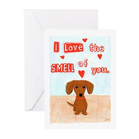 Dachshund Love Greeting Cards (Pk of 10)