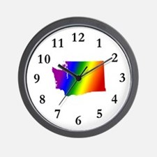 Gay Washington<br> Wall Clock