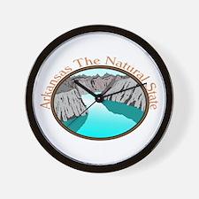 Arkansas Natural State Ash Grey T-Shirt Wall Clock