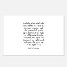 LEVITICUS  14:14 Postcards (Package of 8)