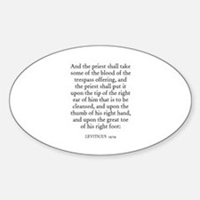 LEVITICUS 14:14 Oval Decal