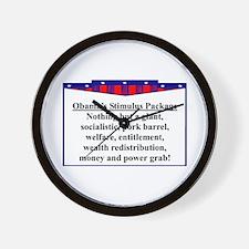 """""""Obama's Stimulus Plan"""" Wall Clock"""