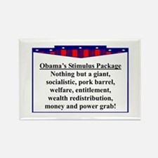 """Obama's Stimulus Plan"" Rectangle Magnet"