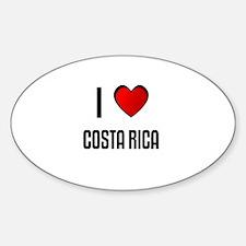 I LOVE COSTA RICA Oval Decal