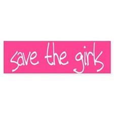 Save The Girls Bumper Bumper Sticker