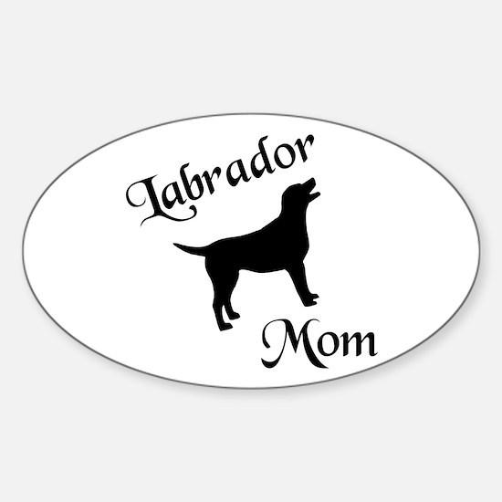 Labrador Mom w/ Silhouette Oval Decal