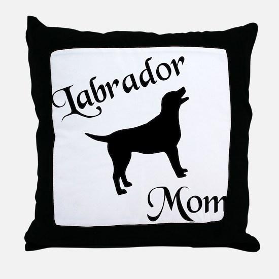 Labrador Mom w/ Silhouette Throw Pillow