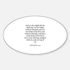 LEVITICUS 14:10 Oval Decal