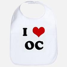 I Love OC Bib