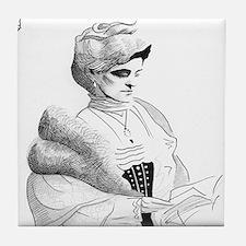 Edith Wharton Tile Coaster