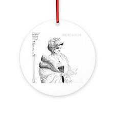 Edith Wharton Ornament (Round)