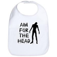 Aim For The Head Zombie Bib