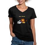 Team Edward (Animals) Women's V-Neck Dark T-Shirt