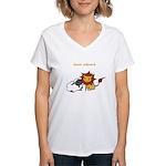 Team Edward (Animals) Women's V-Neck T-Shirt