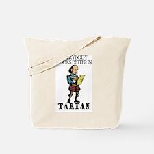 Shakespeare Tartan Tote Bag
