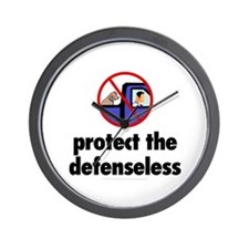 Protect the defenseless. Wall Clock
