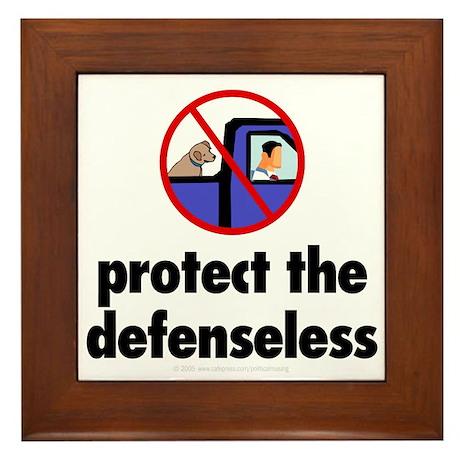 Protect the defenseless. Framed Tile