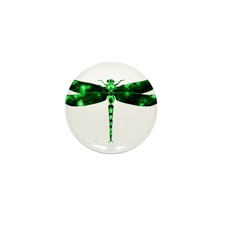 Green Dragonfly Mini Button