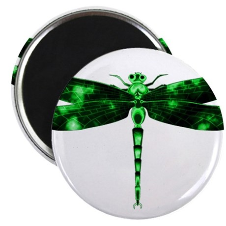"Green Dragonfly 2.25"" Magnet (100 pack)"