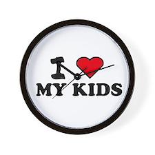 I LOVE MY KIDS Wall Clock