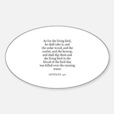 LEVITICUS 14:6 Oval Decal