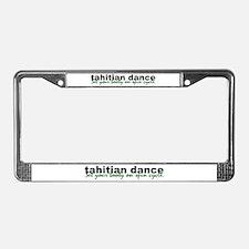 Tahitian Dance License Plate Frame