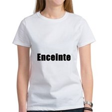 Pregnant in French. Enceinte Tee