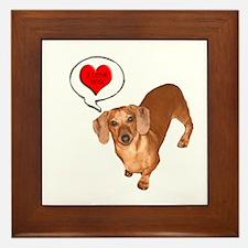 Love You Framed Tile
