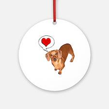 Love You Ornament (Round)