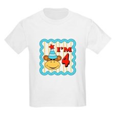 Fourth Birthday Monkey T-Shirt