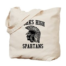 Forks High Spartans (Black) Tote Bag