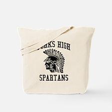 Forks High Spartans (Black) Tote Bag
