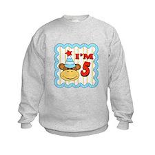 Fifth Birthday Monkey Sweatshirt