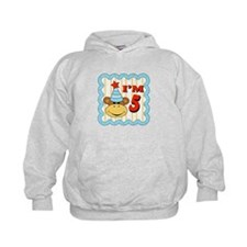 Fifth Birthday Monkey Hoodie