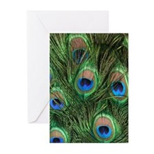 Easter Cards Peacock Feathers (Pk of 10)