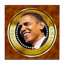 Golden Seal Tile Coaster