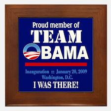 Team Obama (blue) Framed Tile