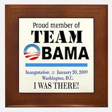 Team Obama (white) Framed Tile