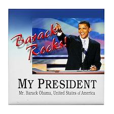 Barack Rocks! Tile Coaster