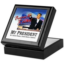 Barack Rocks! Keepsake Box