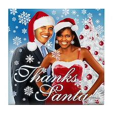 Thanks Santa! Tile Coaster
