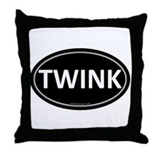 TWINK Black Euro Oval Throw Pillow