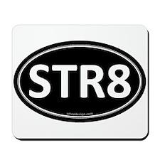 STR8 Black Euro Oval Mousepad