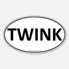 TWINK Euro Oval Oval Decal